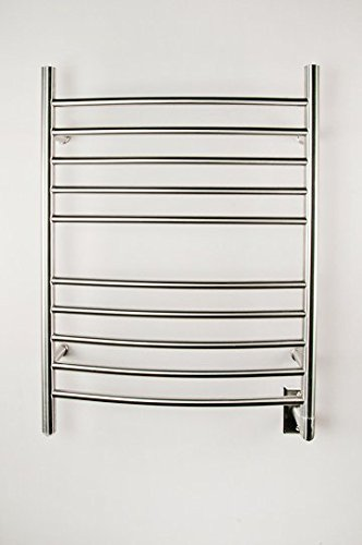 Read About Amba RWH-CB Radiant Hardwired Curved Towel Warmer, Brushed