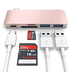 Satechi Type-C USB 3.0 3 in 1 Combo Hub for MacBook 12-Inch (with USB -C Charging Port) - Rose Gold