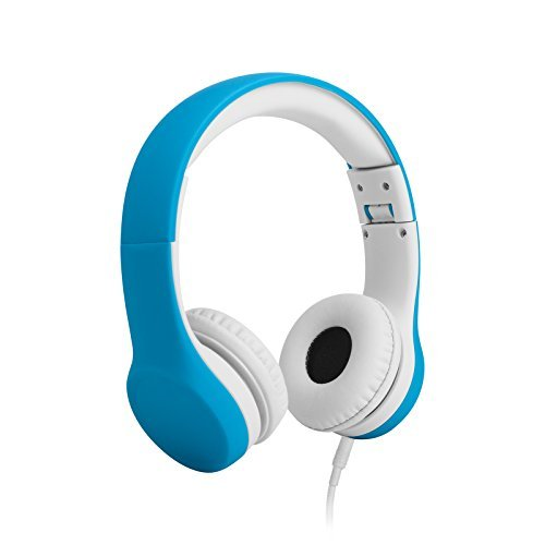 LilGadgets Connect+ Volume Limited Wired Headphones for Children (Blue)