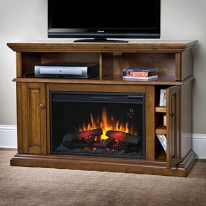 ChimneyFree Claremont Electric Fireplace Media Cabinet in Mahogany - 26MM1904-M318 image B00AEGMX3C.jpg
