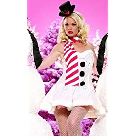 Sexy Christmas Adult Womens Costumes Frosty Snowman X MAS