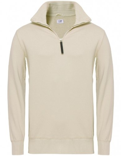 C. P. Company Men's Sweater Beige Half Zip Sweatshirt L