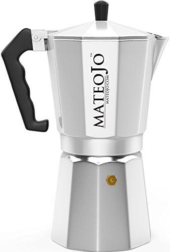 Stovetop Espresso Maker - Italian Moka Pot - Cafetera - Cuban Coffee Machine - 12 Cups by MateoJo ... (12 Cup Espresso Coffee Maker compare prices)