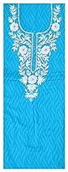 Astha Boutique Women's Cotton Kurta Fabric (Turquoise)