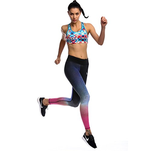 2-Fitness Women's Absolute Workout Leggings Purple/Black S