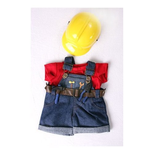 Construction Worker  Hard Hat Outfit Teddy Bear