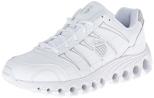 K-Swiss Women's Grancourt Tubes Slip Resistant Duty Shoe,White/Silver,8 M US