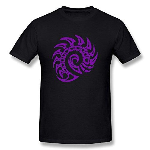 MZONE Men's Starcraft II Game Series Zerg Ze Symbol Particular T Shirt Size L Black