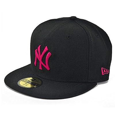 NEW ERA ニューエラ NEWERA CAP YANKEES MLB BLACK/STRAWBERRY PINK N0001625 ニューエラ キャップ ヤンキース ブラック/ストロベリーピンク[メジャーリーグ 帽子 メンズ キャップ ヒップホップ ダンス 衣装 ウェア ドジャース キャップ (7 1/4 (57.7cm))