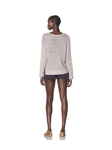 Acrobat Women's Open Knit Stripe Sweater
