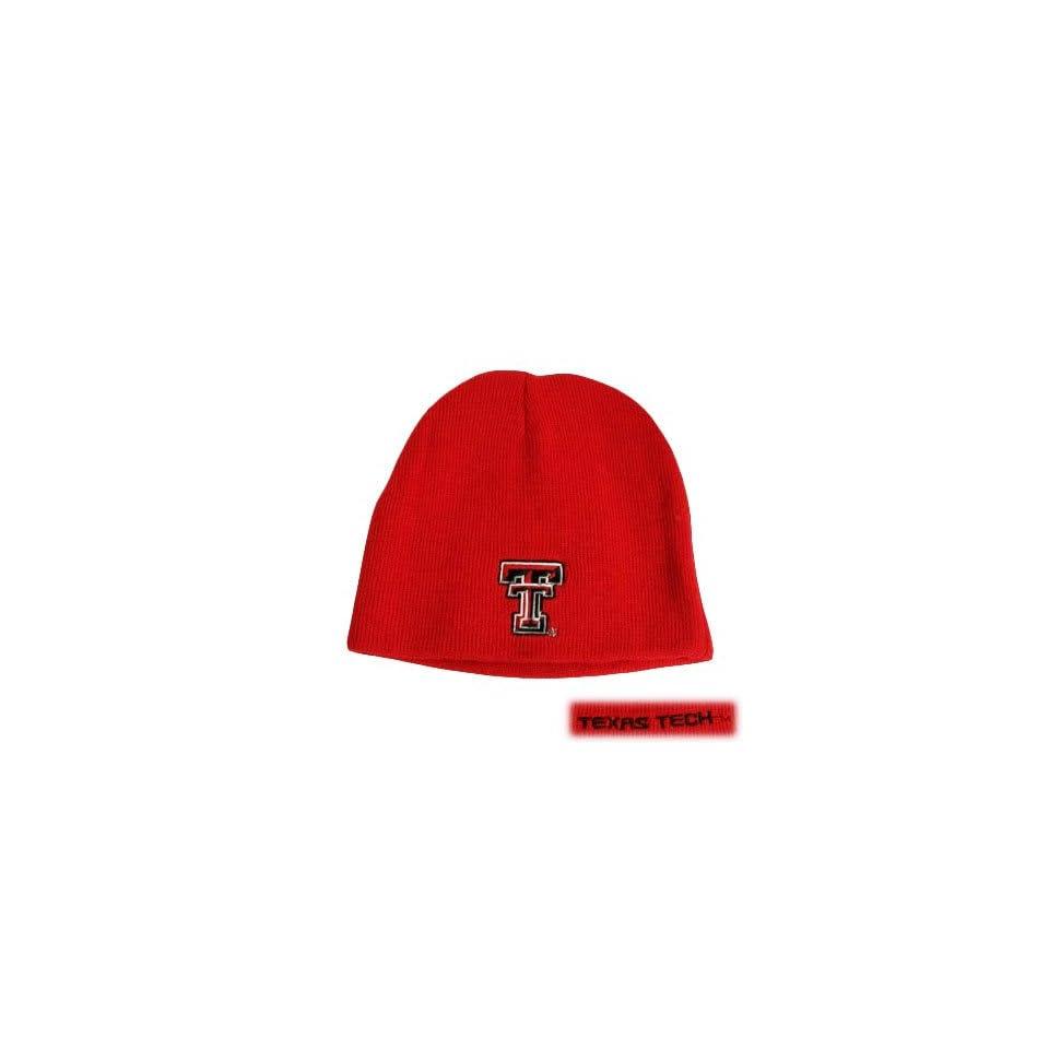 NCAA BEANIE KNIT HAT YOUTH KIDS TEXAS TECH RED RAIDERS