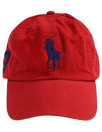 ralph lauren casquette avec logo grand poney rouge. Black Bedroom Furniture Sets. Home Design Ideas