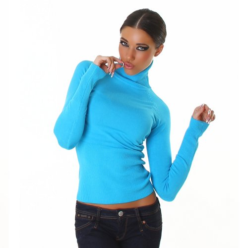 Damen Pullover Pulli Rollkragen Einheitsgröße 32,34,36,38 - verschiedene Farben