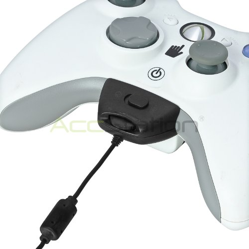 Accstation® Black Headset W/ Mic Compatible With Microsoft Xbox 360