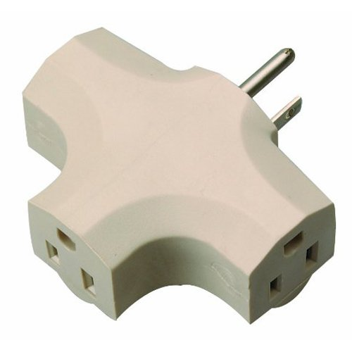 Coleman Cable 9902 Heavy-Duty 3-Outlet Adapter BeigeB0000DGAKL