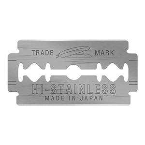 10 Feather Razor Blades NEW Hi-stainless Double Edge