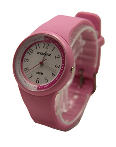 XONIX watch kids brand popular analog display watch PL-A02 stopwatch mininetworkcalibration alarm dual time colorful waterproof pink