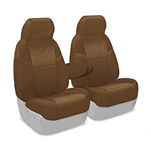 Coverking Custom Fit Front 50/50 Bucket Seat Cover for Select GMC Savana 1500/2500/3500 Models - Ballistic (Tan)
