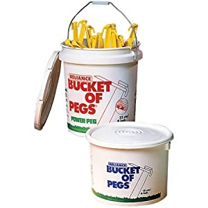 Reliance 120735 9in. Bucket of Pegs - 192 Pieces