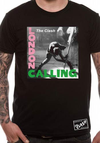 Mercanzie Licenza Ufficiale THE CLASH - LONDON CALLING (Nero), Large