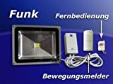 50W LED Fluter mit Funkempfänger- u. Bewegungsmelder für I...