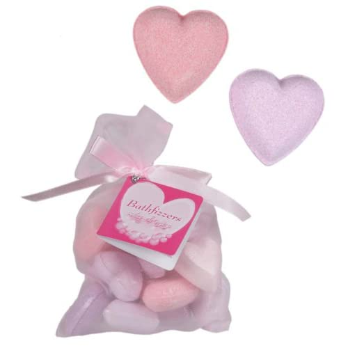 Heart Bath Fizzers - Pamper   Spa   Bubble Bath - Women, Woman, Lady, Ladies, Her Quality, Novelty Secret Santa...