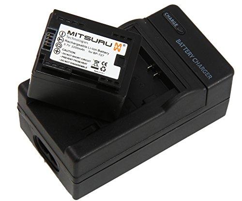 Mitsuru® Akku + Ladegerät Ersatz für Canon BP-727 BP727 passend zu VIXIA 500HF 506HF 50HF 52HF 56