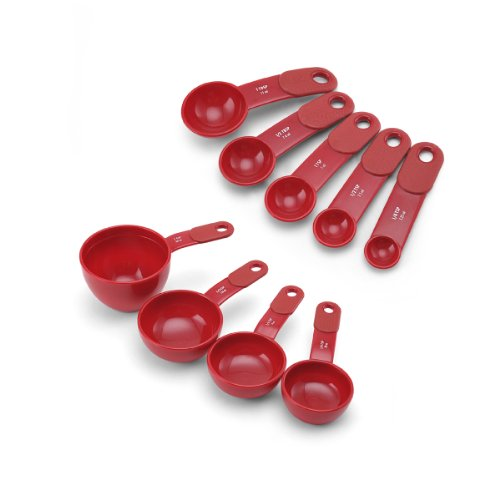 KitchenAid Measuring Cups and Spoons Set (Red) (Kitchen Aid Measuring Spoons compare prices)