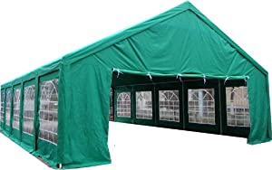 Tent Huge 20' x 40' - Party Shelter Canopy Pavillion Gazebo Outdoor Wedding Reception Family Reunion Carport Business Promotion Green Color