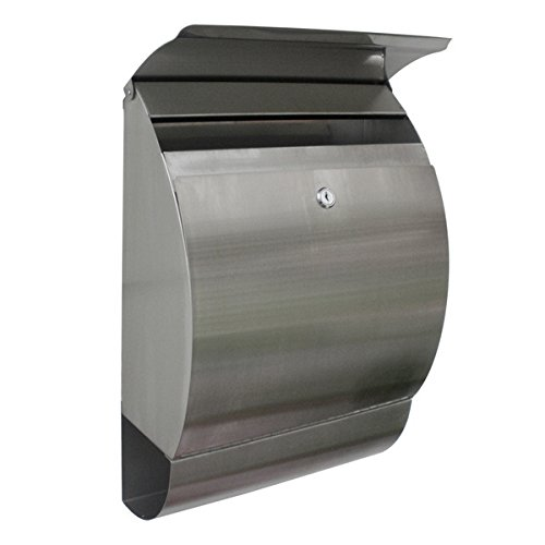2-Stainless-Steel-Mailbox-Wall-Mount-Locking-Postal-Letter-Mail-Box-by-Commercial-Bargains