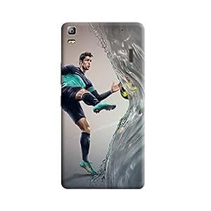 Aurmen High Quality Printed Designer Back Case Cover ForLenovo A7000 (Ronaldo13)