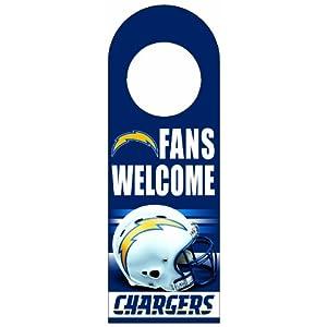 NFL San Diego Chargers Wood Door Hanger