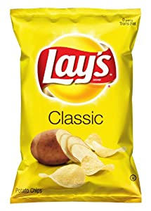 Lay's Potato Chips, Classic, 10 Ounce (Pack of 4)