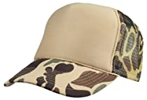 Mens New Hat Camouflage Cap in Brown Beige Camo