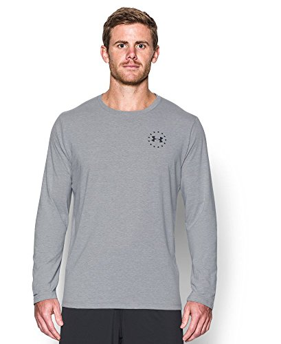 Under Armour Men's WWP Freedom Flag Long Sleeve T-Shirt Large True Gray Heather