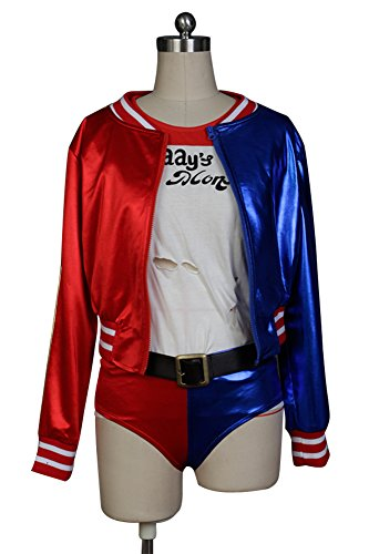 Ya-cos Suicide Squad Harley Quinn Cosplay Costume Skirt Dress Outfit Suit Attire