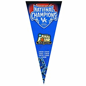 NCAA Kentucky Wildcats 2012 National Basketball Champions Premium Quality Pennant 17-by-40 inch