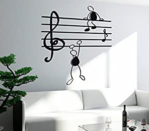 Kimitoboku Wall Stickers Vinyl Decal Music Notes Funny Men Falling Decor For