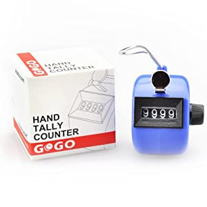 GOGO Hand Tally Counter in Blue, ABS Mechanical Clicker, Handheld Tally Clicker