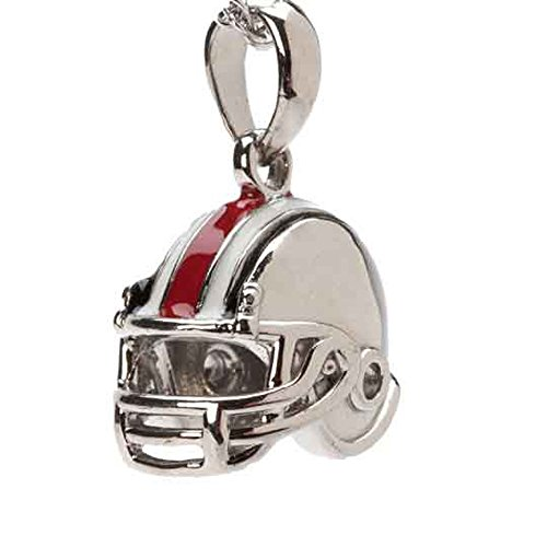 OSU Buckeyes Dangle Football Helmet Bead Charm - Fits Pandora & Others