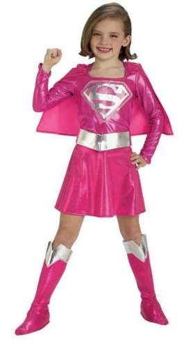 Supergirl Pink Kids Costume Sm Kids Girls Costume