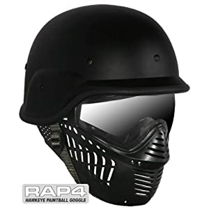 Hawkeye Goggles With US Army/Police Training Helmet - paintball goggles