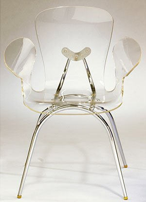 Clear Acrylic Cradle Chair by LumiSource