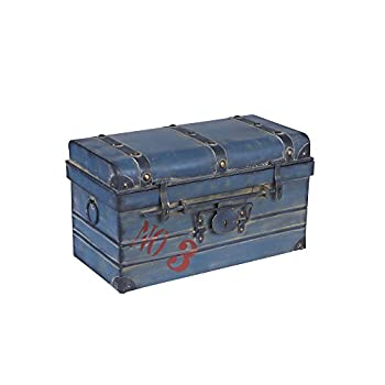 Household Essentials Steamer Classic Storage Trunk, Blue, Small