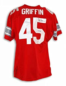Autographed Archie Griffin Ohio State Buckeyes Red Throwback Jersey Inscribed H.T. 74... by Athletic+Promotional+Events+Inc.
