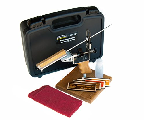Buy Discount KME Precision Knife Sharpener System with 4 Gold Series Diamond Hones – Base Included