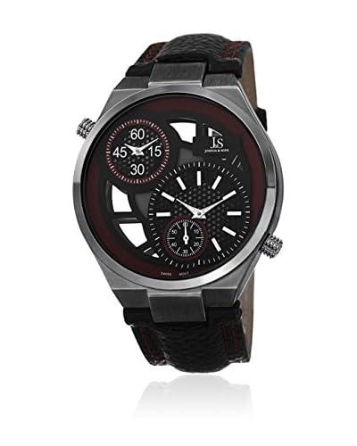 Joshua & Sons Watch Men'S Swiss Genuine Leather Strap Watch Rosso