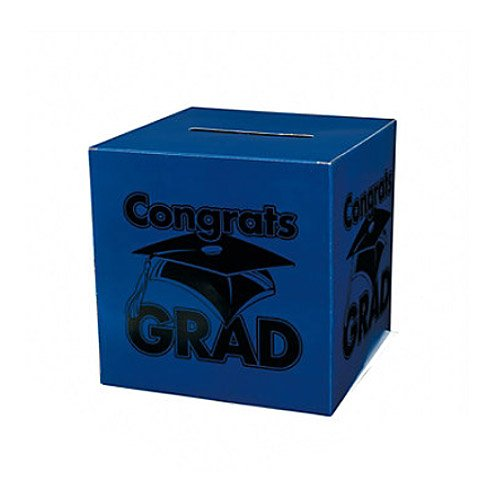 Congrats Grad Blue Card Box