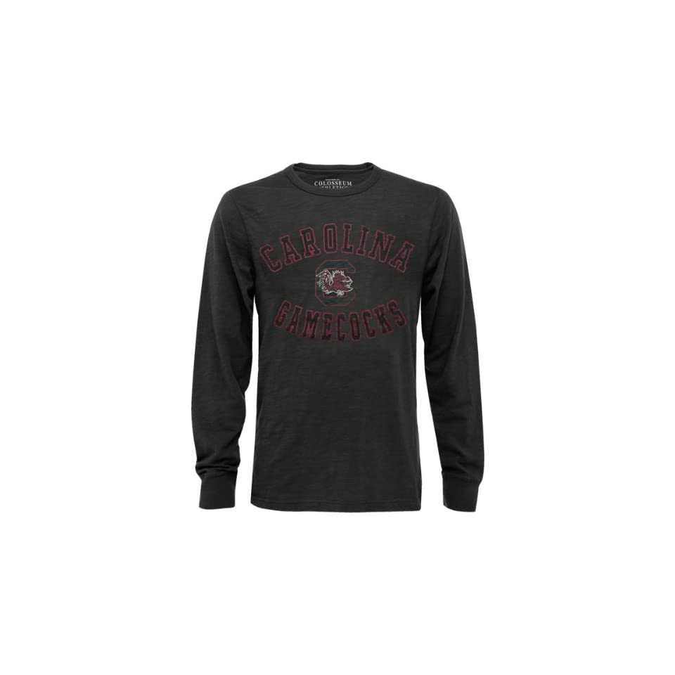 South Carolina Gamecocks Black Barracuda Slub Knit Long Sleeve Shirt