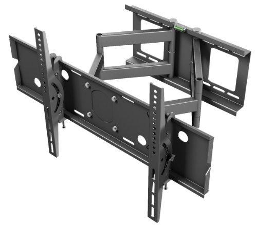 """Details for Ricoo ® TV Wandhalterung Schwenkbar R06 Doppelarm Plasma LCD LED Wandhalter für Fernseher mit 80 - 177cm (32 - 70"""") VESA max. 680x400 universell passend fuer alle TV-Hersteller *** Wandabstand nur 117 mm ***"""